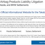 www.autoairbagsettlement.com – Start Registration Claim Form